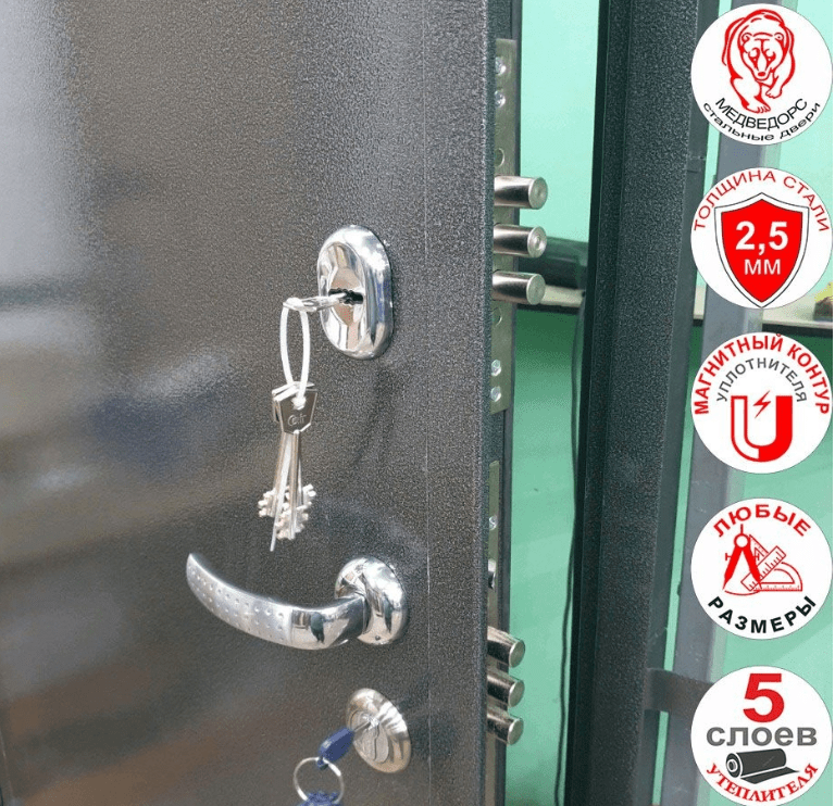 ручка двери с замком автомат.