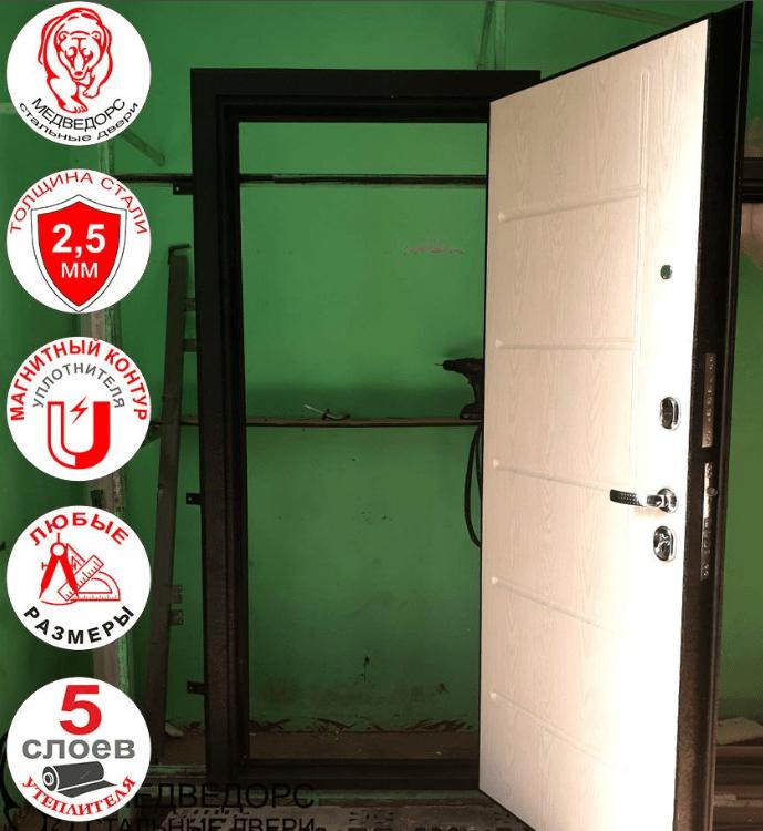 входная дверь в открытом состоянии