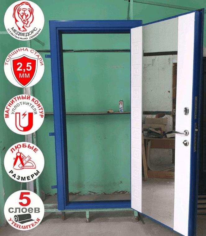 Дверь входная Броня 82 мм. /зеркало