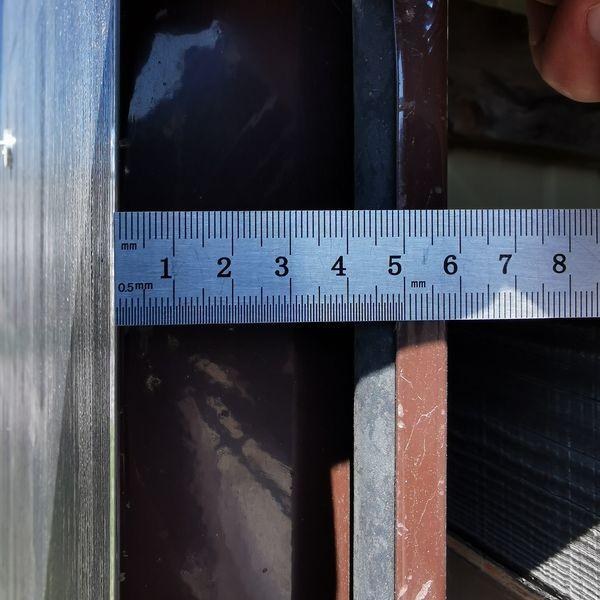 измерение толщины двери