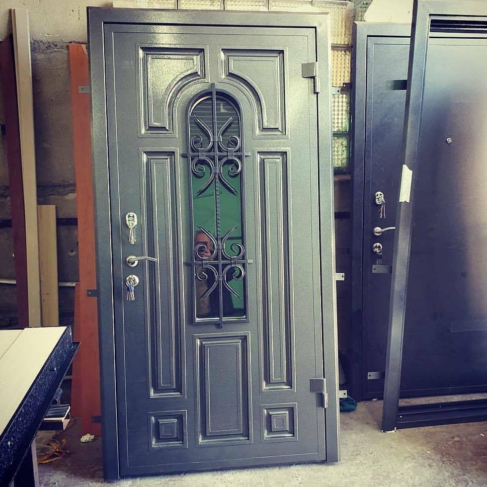 входная дверь серебро